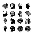 creative brains icons vector image vector image