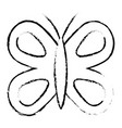 cute butterfly wings insect decoration vector image vector image