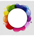 dialog balloon and color blobs vector image