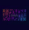 dna science colorful horizontal banner vector image