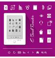 Electronic book e book reader Icons vector image vector image