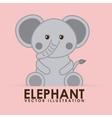 elephant cute vector image