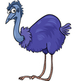 emu ostrich bird cartoon vector image