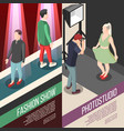fashion industry isometric banners vector image vector image
