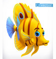 funny tropical fish 3d icon vector image vector image