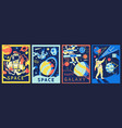futuristic astronaut posters cosmonaut in outer vector image