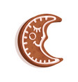 gingerbread in the shape of a crescent christmas vector image vector image