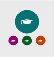 graduation cap icon education vector image vector image