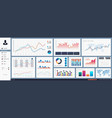 great dashboard ui vector image vector image