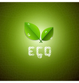 Green Ecology Background With Leaves and ECO Title vector image