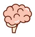 human body brain anatomy organ health line and vector image