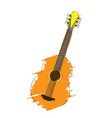 isolated guitar icon musical instrument vector image