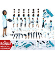 isometric woman doctor african american create vector image vector image