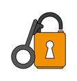 key lock open vector image