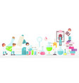 laboratory research banner vector image