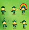 leprechaun cartoon character vector image