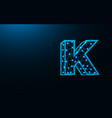 letter k low poly design alphabet abstract vector image vector image
