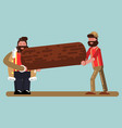 lumberjacks bears wood vector image vector image
