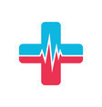 medical heart logo icon vector image vector image
