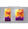 modern abstract party flyer vector image vector image