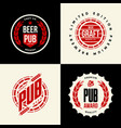 modern craft beer drink isolated logo sign vector image
