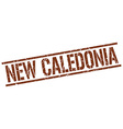 New Caledonia brown square stamp vector image vector image