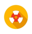 Nuclear power flat icon vector image