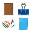 office and supply icon vector image