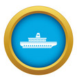 passenger ship icon blue isolated vector image vector image