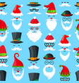 pattern with santa claus vector image