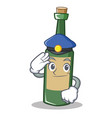 police wine bottle character cartoon vector image