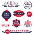 premium and quality labels vector image vector image