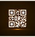 qr code neon icon glowing logo vector image
