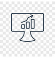 screen concept linear icon isolated on vector image