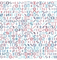 Seamless Blue Red Colorful Random Geometric vector image vector image