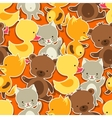 seamless pattern with bacat bear fox and duck vector image