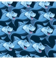 seamless pattern with blue fish in the sea vector image vector image