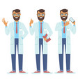 set of doctors characters vector image vector image