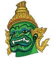 thai demon green vector image