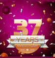 Thirty seven years anniversary celebration design