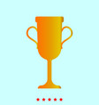 trophy cup set it is color icon vector image vector image