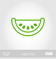 watermelon slice outline icon summer vacation vector image vector image