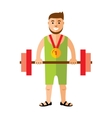 Weightlifting Flat style colorful Cartoon vector image vector image