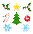 winter decorations set vector image vector image
