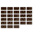 wooden dominoes set vector image