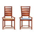 room furniture armchair set isolated chair in vector image