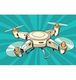 quadcopter toy aircraft pop art vector image