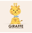 giraffe cute vector image