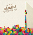 Travel Canada polygonal skyline vector image