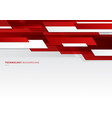 abstract header red and white shiny geometric vector image vector image